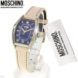MOSCHINO VENT'AGE SYMBOL HOUR MARKERS STRAP WATCH